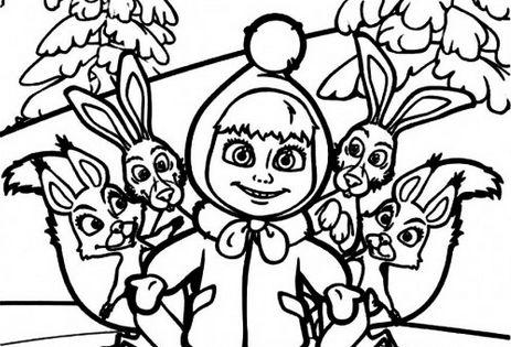 Masha_e_Urso_Bear_boomerang_desenhos_imprimir_colorir