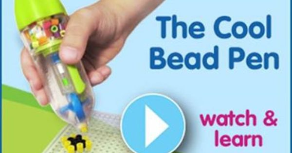 Perler Bead Pen Ergonomic Tool for Easy Placement of Perler Beads on Pegboard