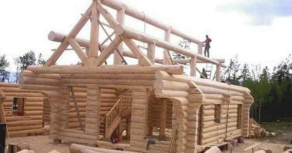 How To Build A Simple Log Cabin I Think Building A Log Cabin Is Everyone S Dream At Least At One Poi Log Cabin Homes Log Homes Building A Cabin