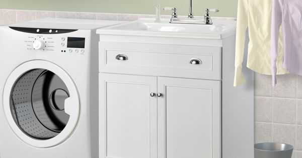 Keats 30 In. Laundry Sink With Cabinet & Faucet Kit