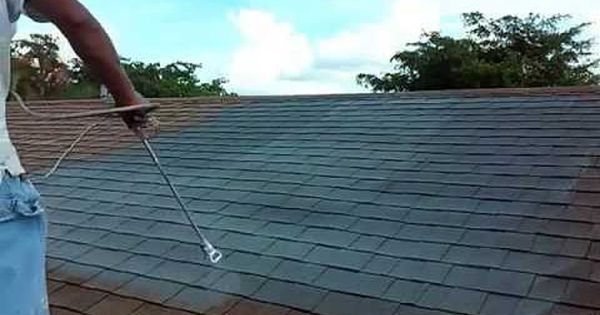 How To Spray And Painting You Roof Shingles Roof Paint Roof Restoration Roof Shingles