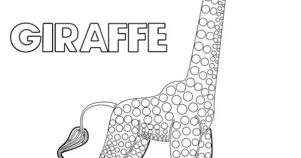 Tinga tinga tales black and white picture of giraffe for Tinga tinga coloring pages