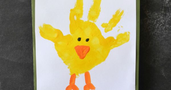 Chick Handprint Card Easter