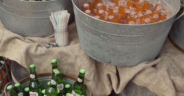 Creative Ways To Serve Drinks Wedding Sodas And Buckets