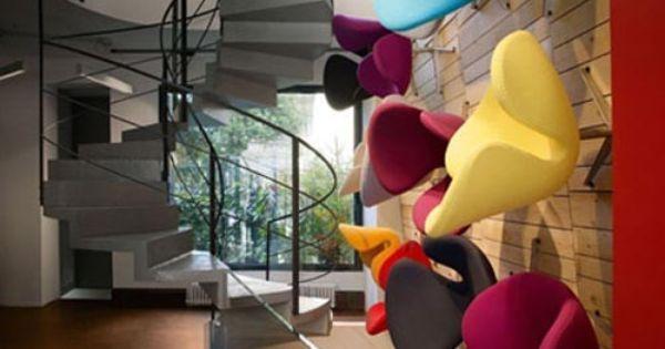 Fritz Hansen Furniture Showroom Interior In Milan By