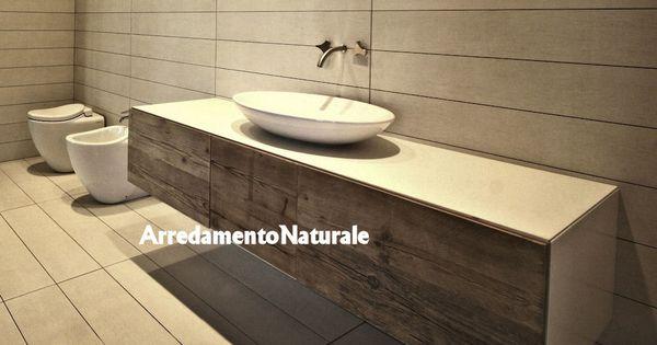 Mobili da bagno in legno grezzo massiccio rustico etnico 1000 573 vf12 interiors - Mobili bagno in legno grezzo ...