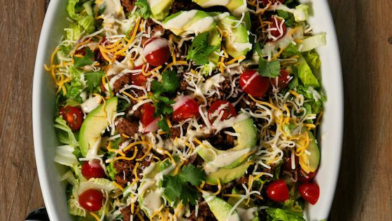 Mexican Salad with Avocado and Buttermilk Ranch Dressing