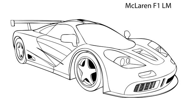 mclaren f1 coloring pages - photo#3