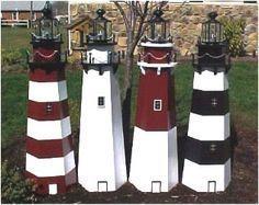 Free Lighthouse Building Plans Lawn Lighthouse Woodworking Plans Build You Own Lawn Lighth Decoracion De Playa Proyectos De Carpinteria Adornos Con Reciclaje