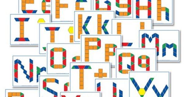 Alphabet block pattern free printables
