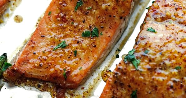 One Pan Honey Mustard Salmon with Green Beans Recipe ...