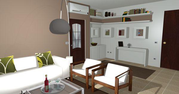 il salotto con la libreria a cubi in cartongesso www.kamaleontika.it ...