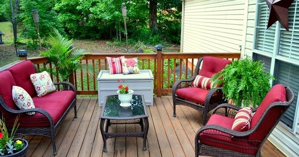Deck makeover from the frugal homemakeri need one of for Frugal stylish patio furniture