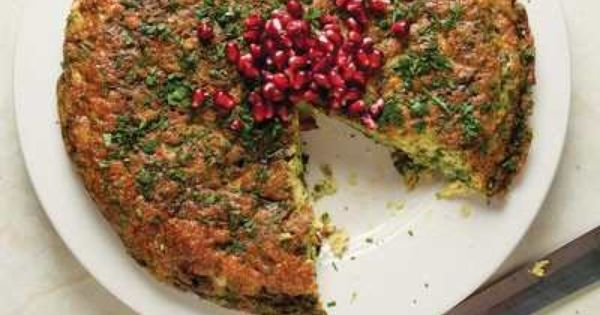 Leek and Herb Frittata (Kuku Sabzi) | Iranian, Iranian food and Food