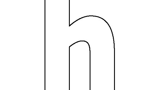 Lowercase Letter H Pattern Use The Printable Outline For