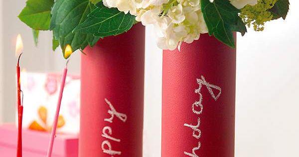 diy: sand paper vases