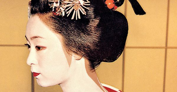 gelled hairstyles : Mineko Iwasaki when she was Maiko Geisha with Sakkou Hairstyle of ...