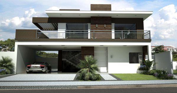 Casa fachada pesquisa google sobrados fachadas for Materiais para fachadas de casas modernas