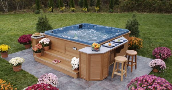 Hot tub surround ideas ornamental flowers and admirable for Oversized garden tub