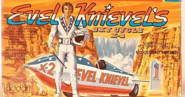 Vintage Evel Knievel In His: X2 Sky Cycle Model Kit.