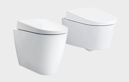 Toalett Som Spolar Rumpan Dusch Toalett