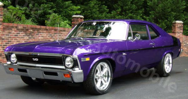 1969 Purple Nova Chevy Nova Classic Cars Trucks Hot Rods Chevrolet Nova