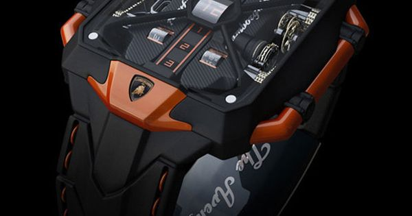 Avenger Vertical Tourbillon Watch Inspired By Lamborghini Aventador