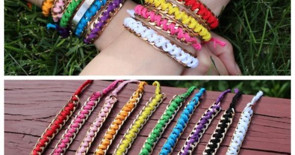 DIY Chain and embroidery floss bracelets