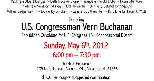 political fundraiser invitations