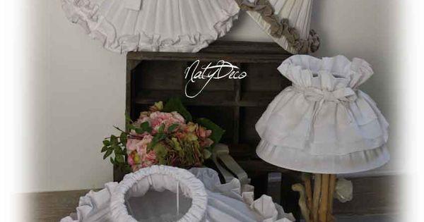 Abat jour en tissu fabrication artisanale http www for Tissu shabby chic