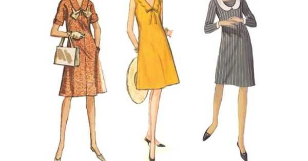 This is the dress style in the sixties for woman's skirts from