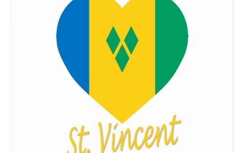 St Vincent Grenadines Flag Heart Postcard Zazzle Com In 2020 St Vincent Grenadines Vincent Postcard