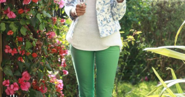 green pants + floral blazer