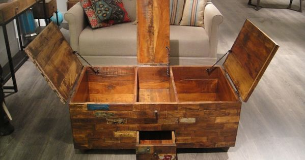 Reclaimed Wood Chest Coffee Table | Room inspiration | Pinterest | Mobili  in legno, Caffè e Tronchi - Reclaimed Wood Chest Coffee Table Room Inspiration Pinterest