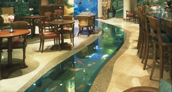 Fish tank wall fish tanks fish tank pinterest the for Floor fish tank