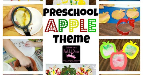 Preschool Apple Theme - Crafts, Activities & Books