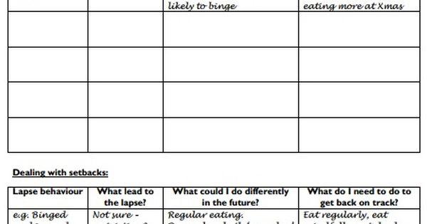 backonpointe – Relapse Prevention Plan Worksheet