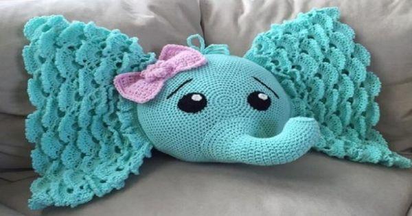 Elephant Pillow Pdf Crochet Pattern Crochet Pinterest
