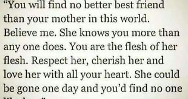 Respect And Cherish Mother Quotes Mom Quotes Quotes