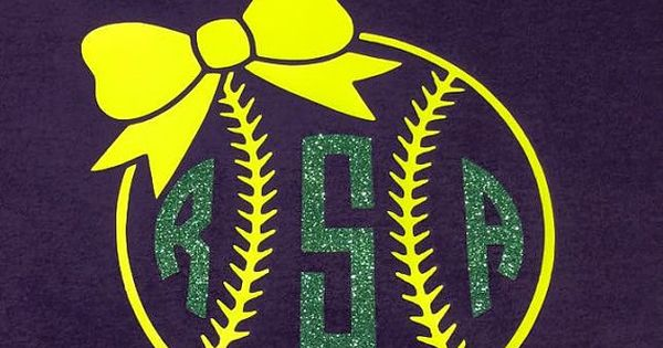 softball monogram shirt