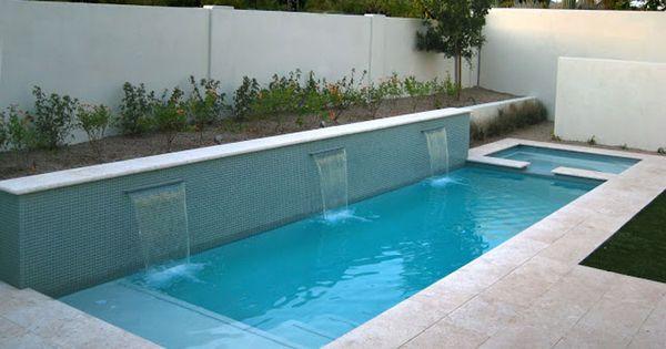 50 foto di piccole piscine interrate per piccoli giardini casa pinterest - Foto piccoli giardini casa ...