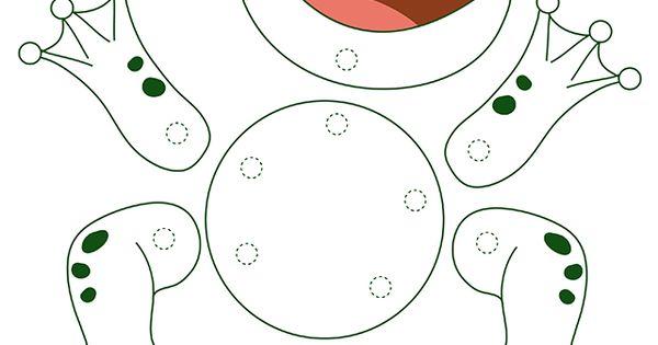 Activit manuelle facile une grenouille articul e d couper enfants pinterest activit - Activite manuelle elementaire ...