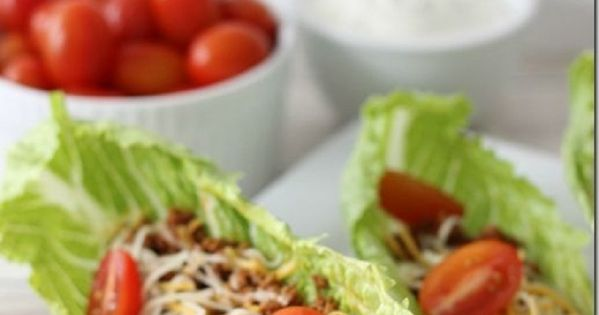 Taco Salad Boats/Top 10 Clean Eating Recipes I deleted the link because Pinterest blocked it but the idea is still good. I do this all the time instead of taco shells and it's delicious and works great!!