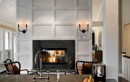 traditional paneled fireplace - Google Search | fireplace ...