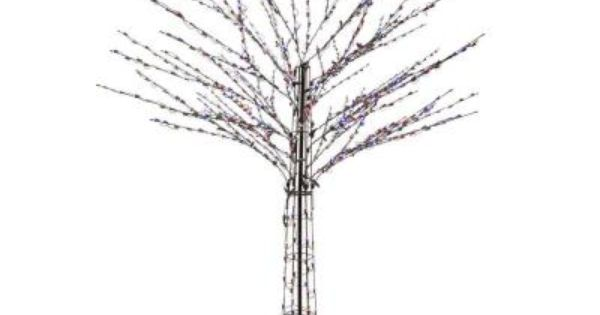 Santa S Best 8 Ft Outdoor Led Brown Bare Branch Tree Sculpture With 49 Lighting Combinations 2407012uho At The Home Dep Tree Sculpture Tree Branches Sculpture