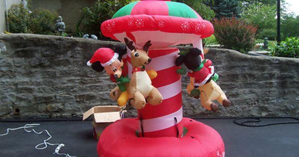 Ft disney xmas mickey mouse santa rotating carousel