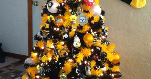 Hometown Christmas: Steelers Christmas Tree! #pittsburgh