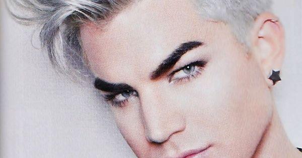 adam lambert silver hair h224r pinterest silver