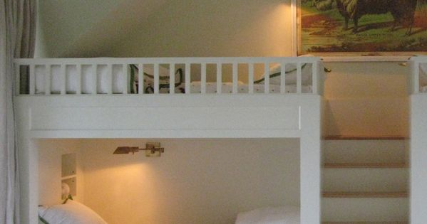 Loft style bunks kidsrooms kids Bedrooms @TheDailyBasics ♥♥♥
