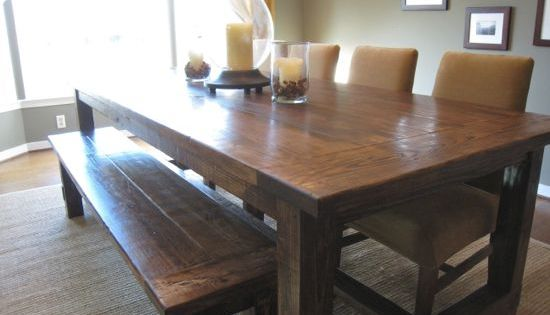 DIY farmhouse dining table-- use reclaimed wood??